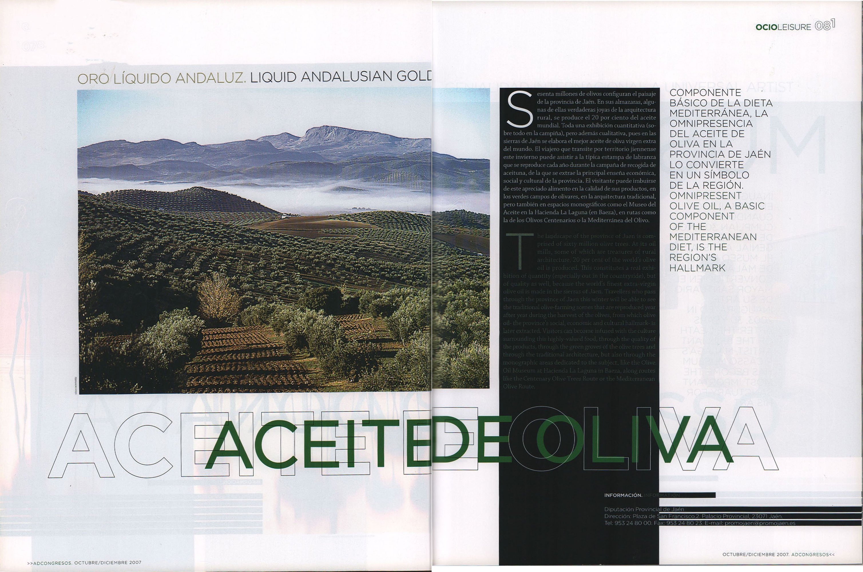Aceite de oliva | AD Congresos | oct 2007