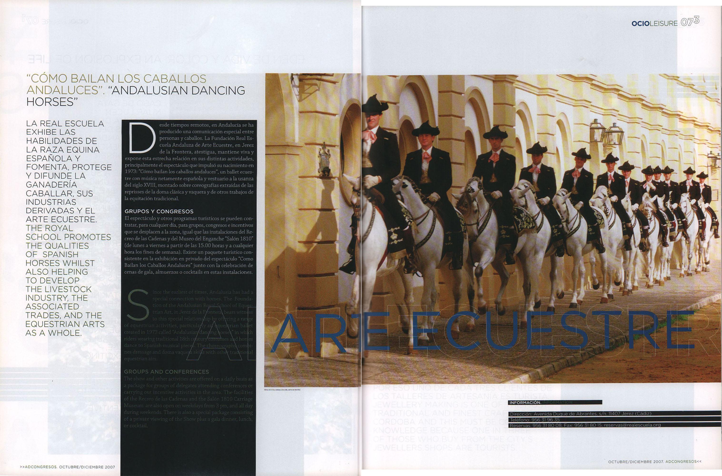 Arte ecuestre - Cómo bailan los caballos andaluces | AD Congresos | oct 2007