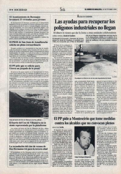 Alcalá de Guadaíra / Las ayudas para recuperar los polígonos industriales no llegan | El Correo de Andalucía | 21 oct 1995