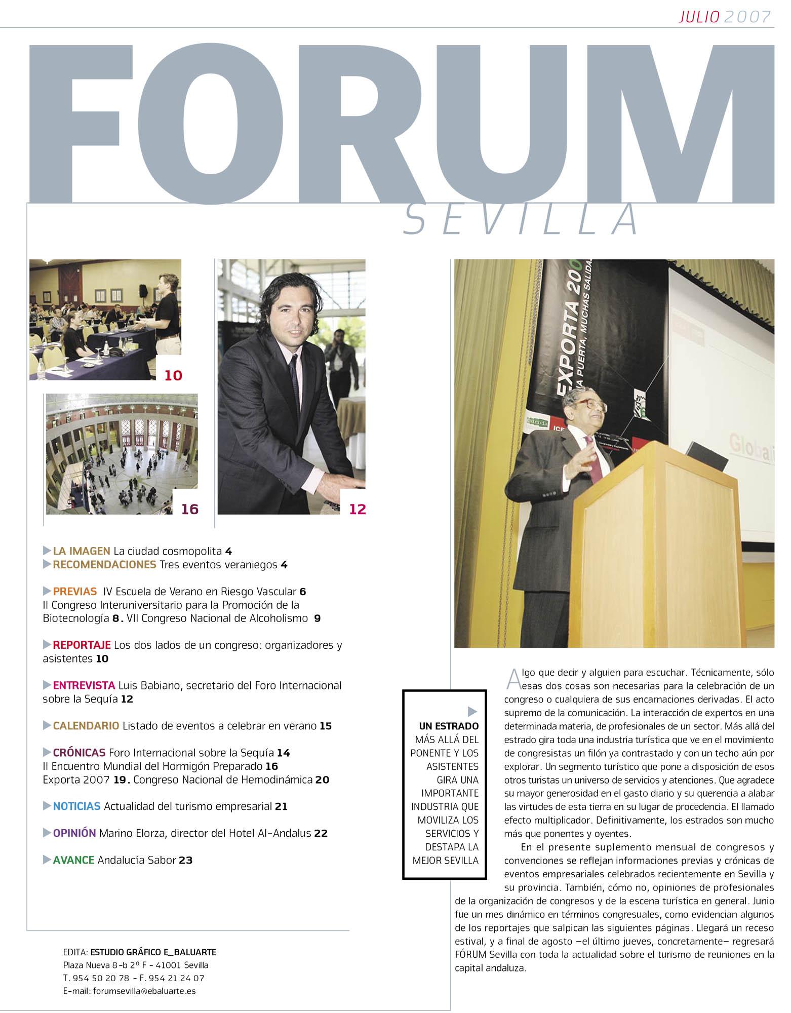Un estrado – Editorial | Fórum – ABC de Sevilla | jul 2007