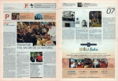 Ferantur y el valor de lo natural – Feria Andaluza de Turismo Rural | Fórum – ABc de Sevilla | mar 2008