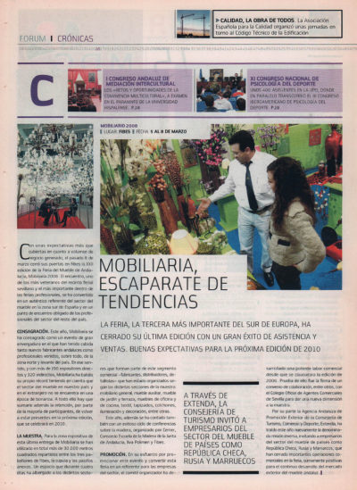 Mobiliaria, escaparate de tendencias | Fórum – ABC de Sevilla | abr 2008