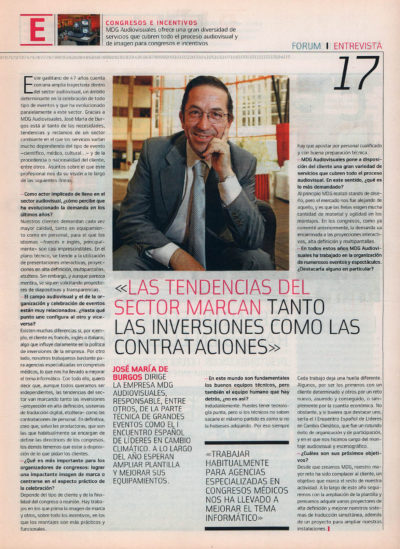 José María de Burgos, MDG Audiovisuales | Fórum – ABC de Sevilla | may 2008