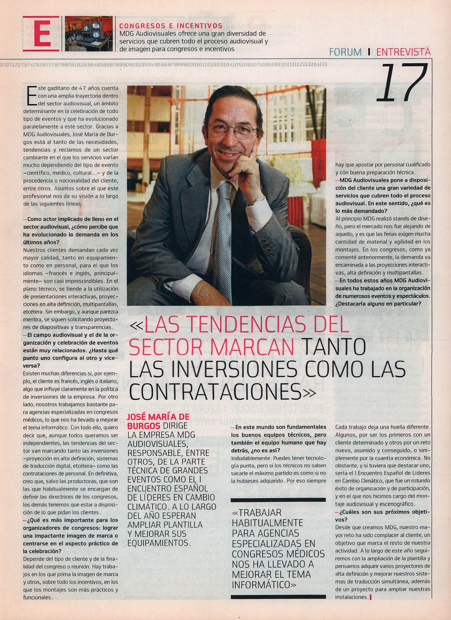 José María de Burgos, MDG Audiovisuales | Fórum - ABC de Sevilla | may 2008