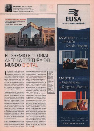 El gremio editorial, ante la tesitura del mundo digital – VI Congreso de Editores de España | Fórum – ABC de Sevilla | jun 2008