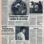 Kiko Veneno y Mártires del Compás: cantecitos andaluces camino de un cortijo | Cuestionario: Fernando García, Rey de Copas | El Correo de Andalucía | 8 oct 1993