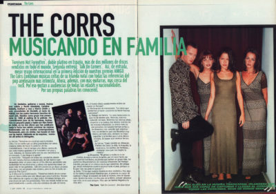 The Corrs, musicando en familia – Talk on corners | Whats Music | ene 1998