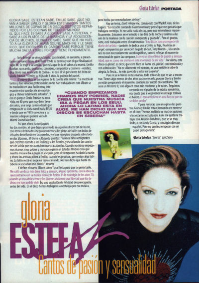 Gloria Estefan, canto de pasión y sensualidad – Gloria! | Whats Music | jun 1998