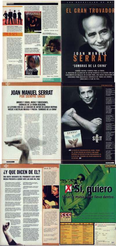 Joan Manuel Serrat, el gran trovador – Sombras de la China | Whats Music | oct 1998