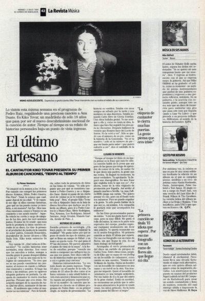 Kiko Tovar, el último trovador – Tiempo al tiempo | El Correo de Andalucía | 2 jul 1999