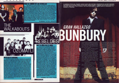 Bunbury – Pequeño cabaret | The Walkabouts – Trail of stars | Los Rebeldes – Vicios y virtudes | Ozomatli | Whats Music | oct 1999