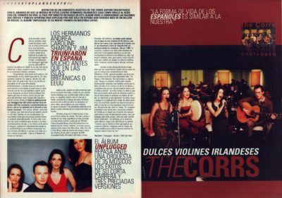 The Corrs, dulces violines irlandeses – Unplugged | 40 Magazine | feb 2000