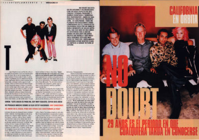No Doubt: California en órbita – Return of Saturn | 40 Magazine | abr 2000
