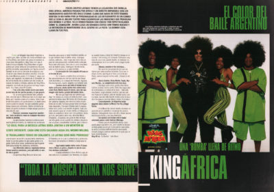 King Africa: el color del baile argentino – La bomba | 40 Magazine | jun 2000