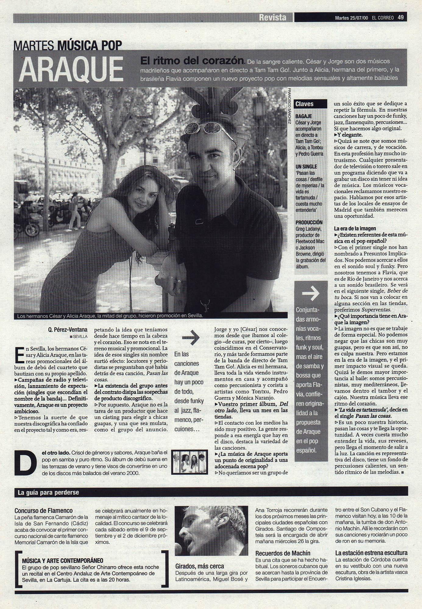 Araque: el ritmo del corazón - César y Alicia | El Correo de Andalucía | 25 jul 2000