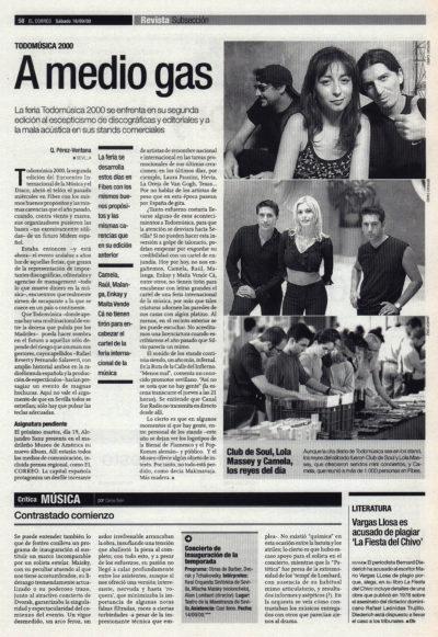 Todomúsica 2000: a medio gas | El Correo de Andalucía | 16 sep 2000