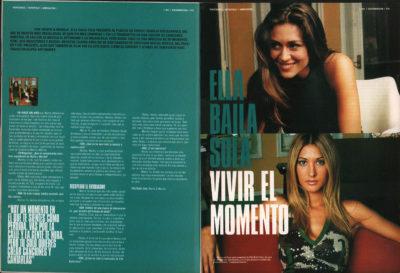 Ella Baila Sola: vivir el momento – Marta & Marilia | 40 Magazine | dic 2000