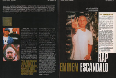 Eminem: rap escándalo – The Marshall Mathers | 40 Magazine | feb 2001