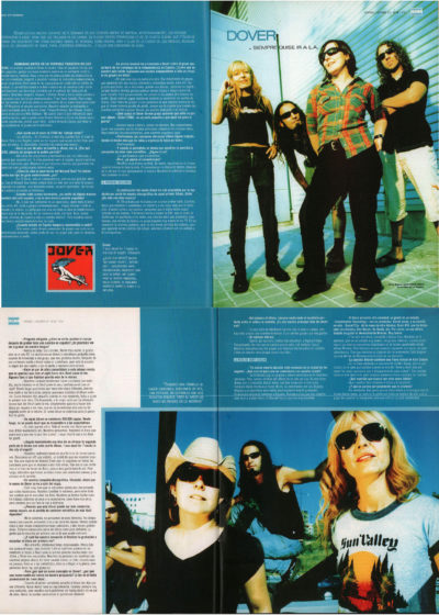 Dover: siempre quise ir a L.A. – I was dead | 40 Magazine | oct 2001