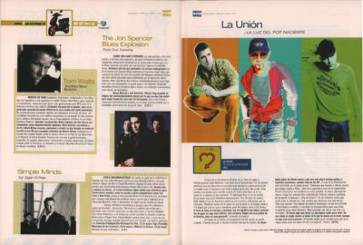 La Unión: la luz del pop naciente – El mar de la fertilidad | 40 Magazine | may 2002