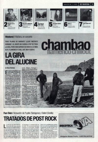Chambao: flamenco chill out – Instinto humano | De Marcha – El Correo | 28 dic 2002