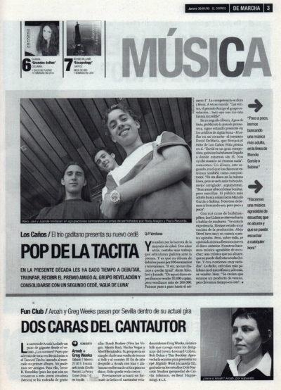 os Caños: pop de la tacita – Agua de luna | De Marcha – El Correo | 30 ene 2003
