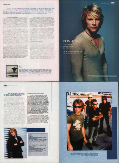 Bon Jovi: el mayor espectáculo de rock – Bounce | 40 Magazine | may 2003