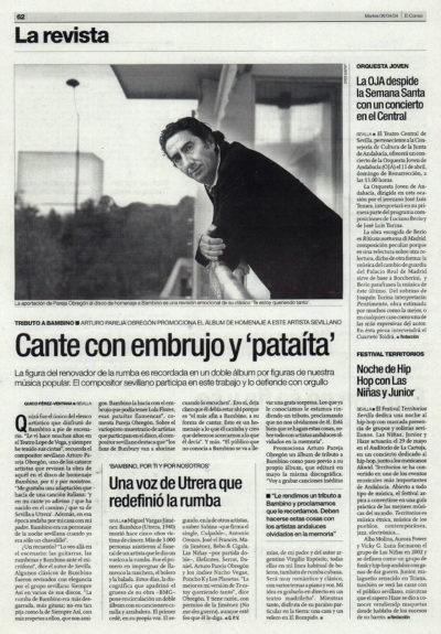 Arturo Pareja Obregón – Tributo a Bambino | El Correo de Andalucía | 6 abr 2004