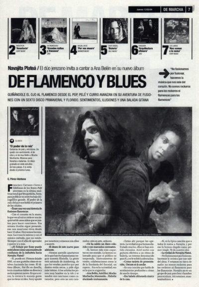 Navajita Plateá: de flamenco y blues – El poder de la raíz | De Marcha – El Correo | 13 may 2004