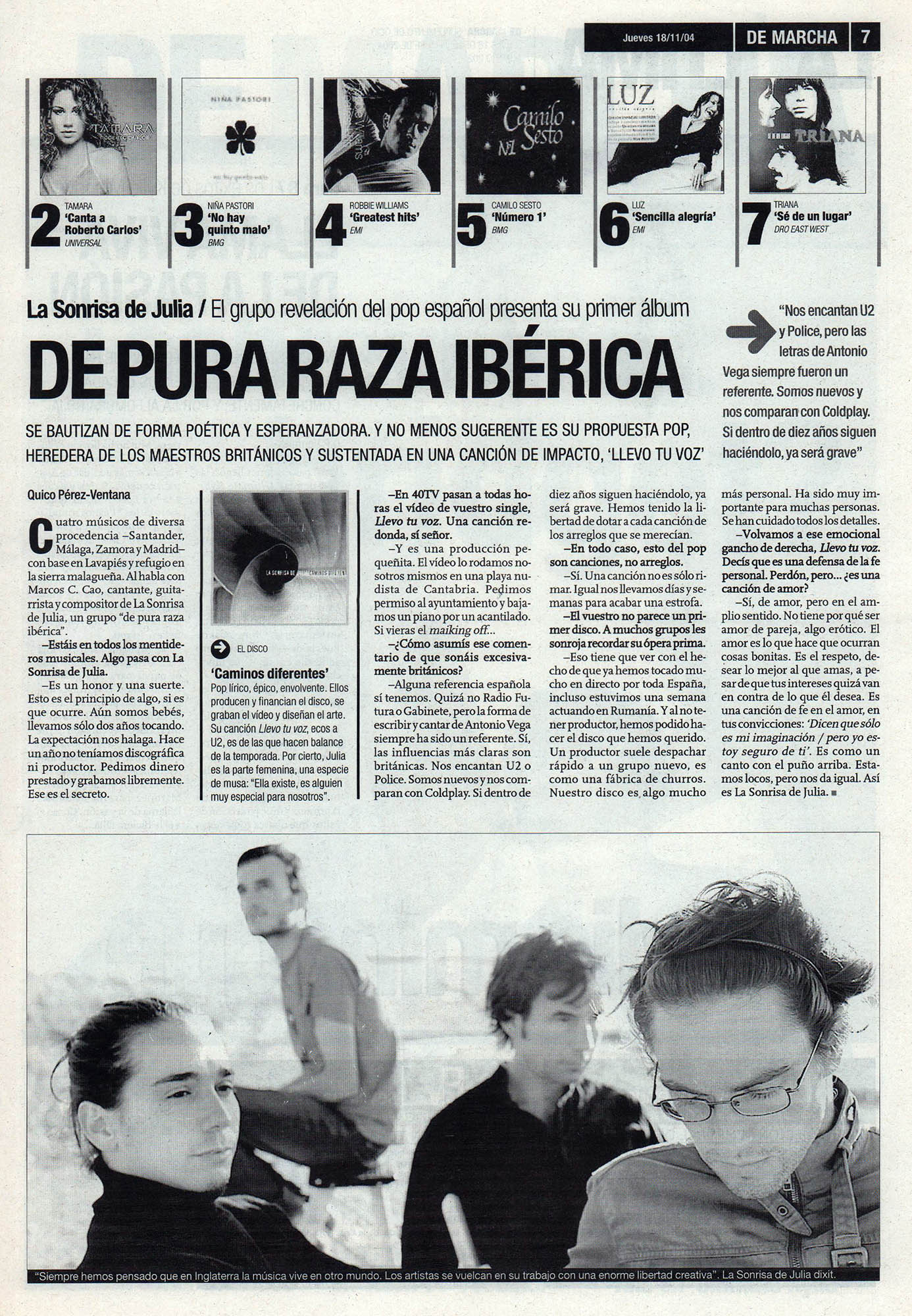 La sonrisa de Julia: de pura raza ibérica – Caminos diferentes | De Marcha – El Correo | 18 nov 2004