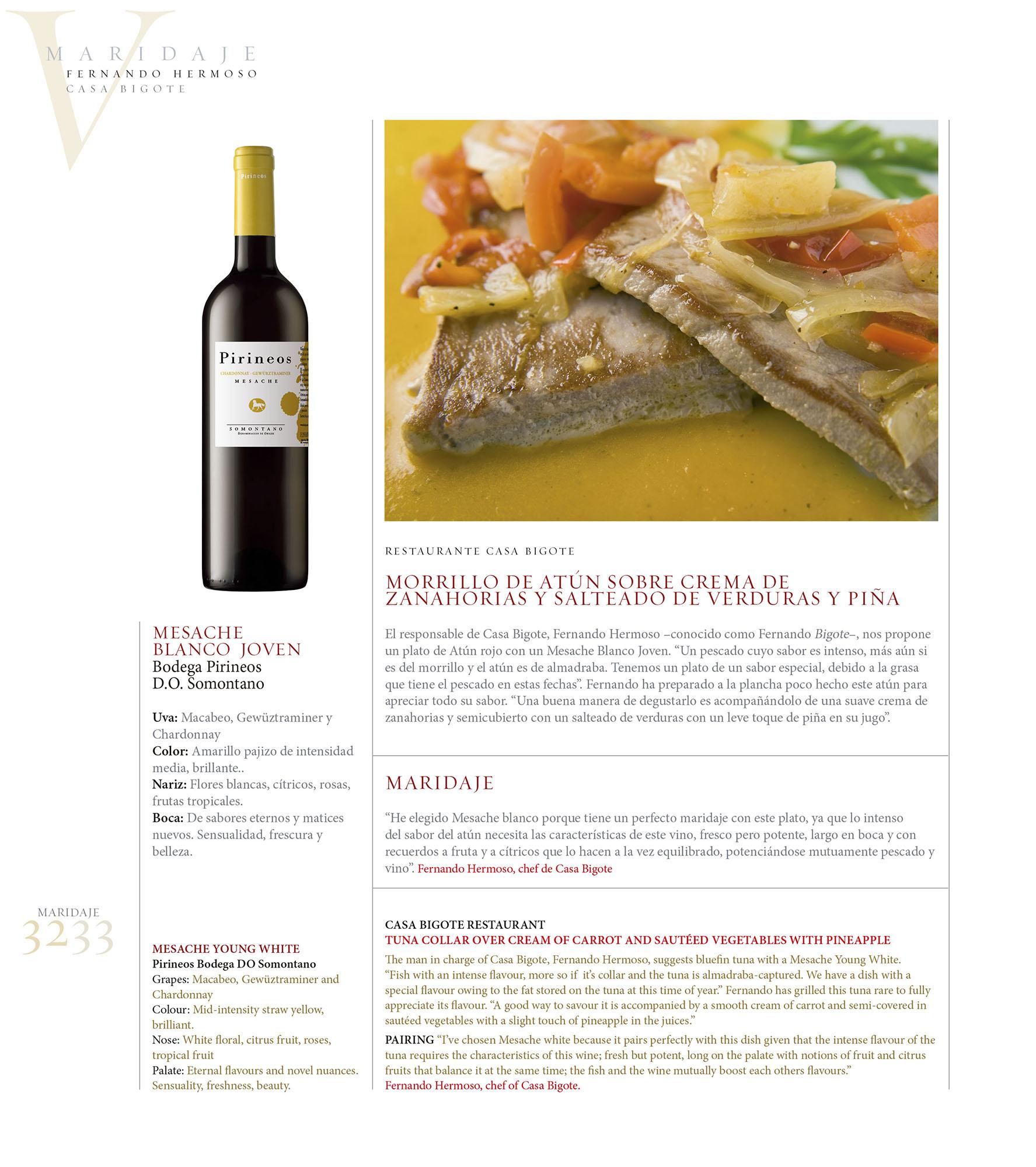 Maridaje - Casa Bigote | Revista ORO | jun 2009