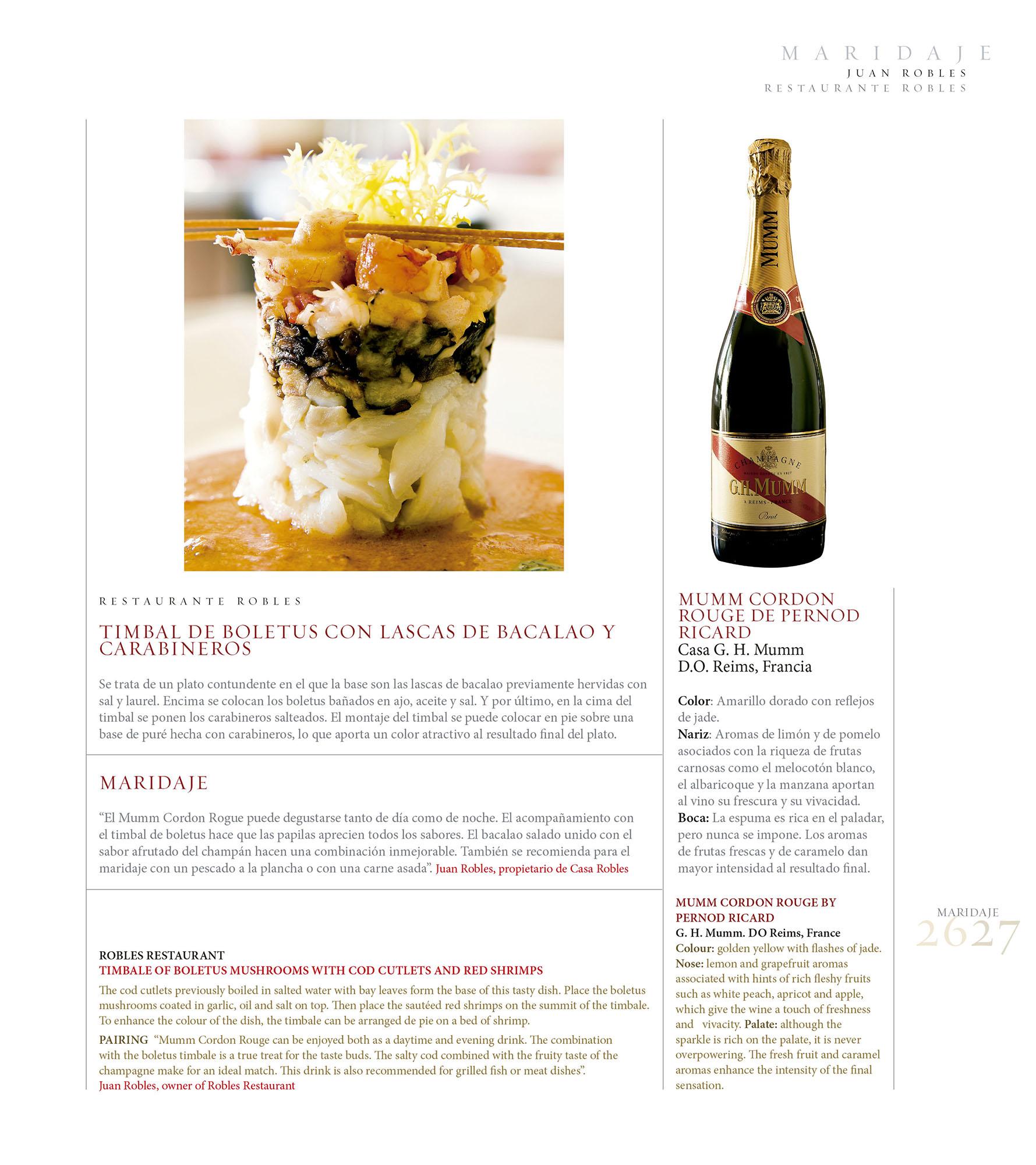 Maridaje – Casa Robles | Revista ORO | dic 2009