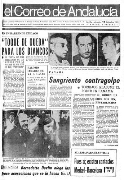 El día que nací yo | El Correo de Andalucía | 17 dic 1969