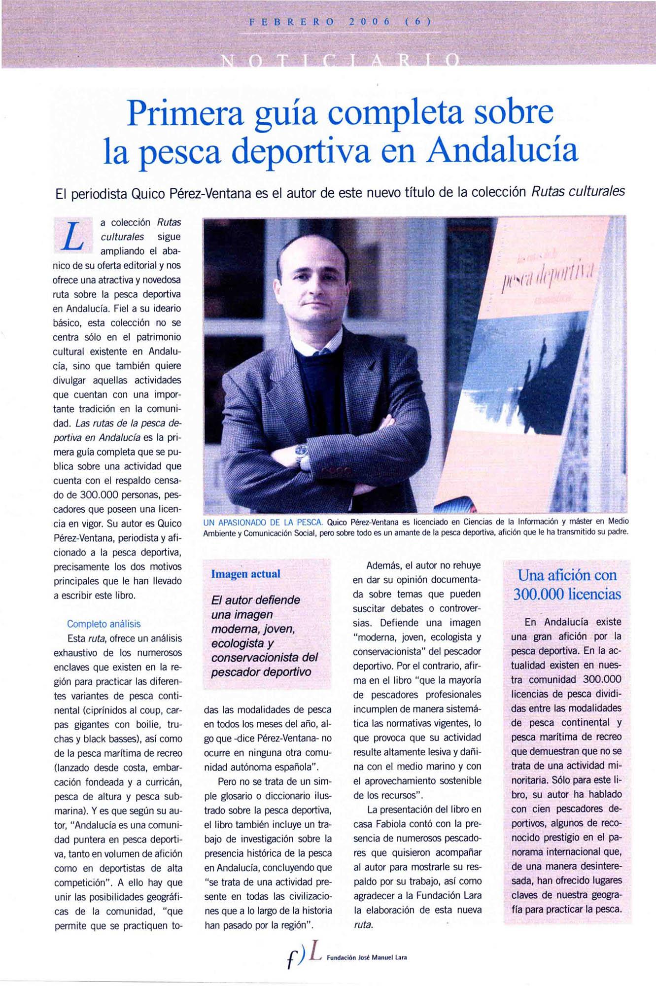 Primera guía completa sobre la pesca deportiva en Andalucía | Revista Mercurio | feb 2006