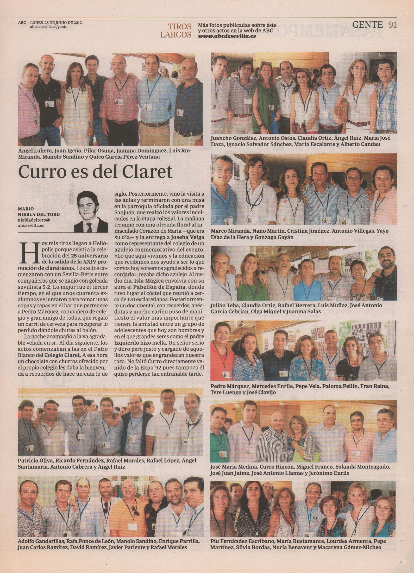 Curro es del Claret | ABC de Sevilla | 25 jun 2012