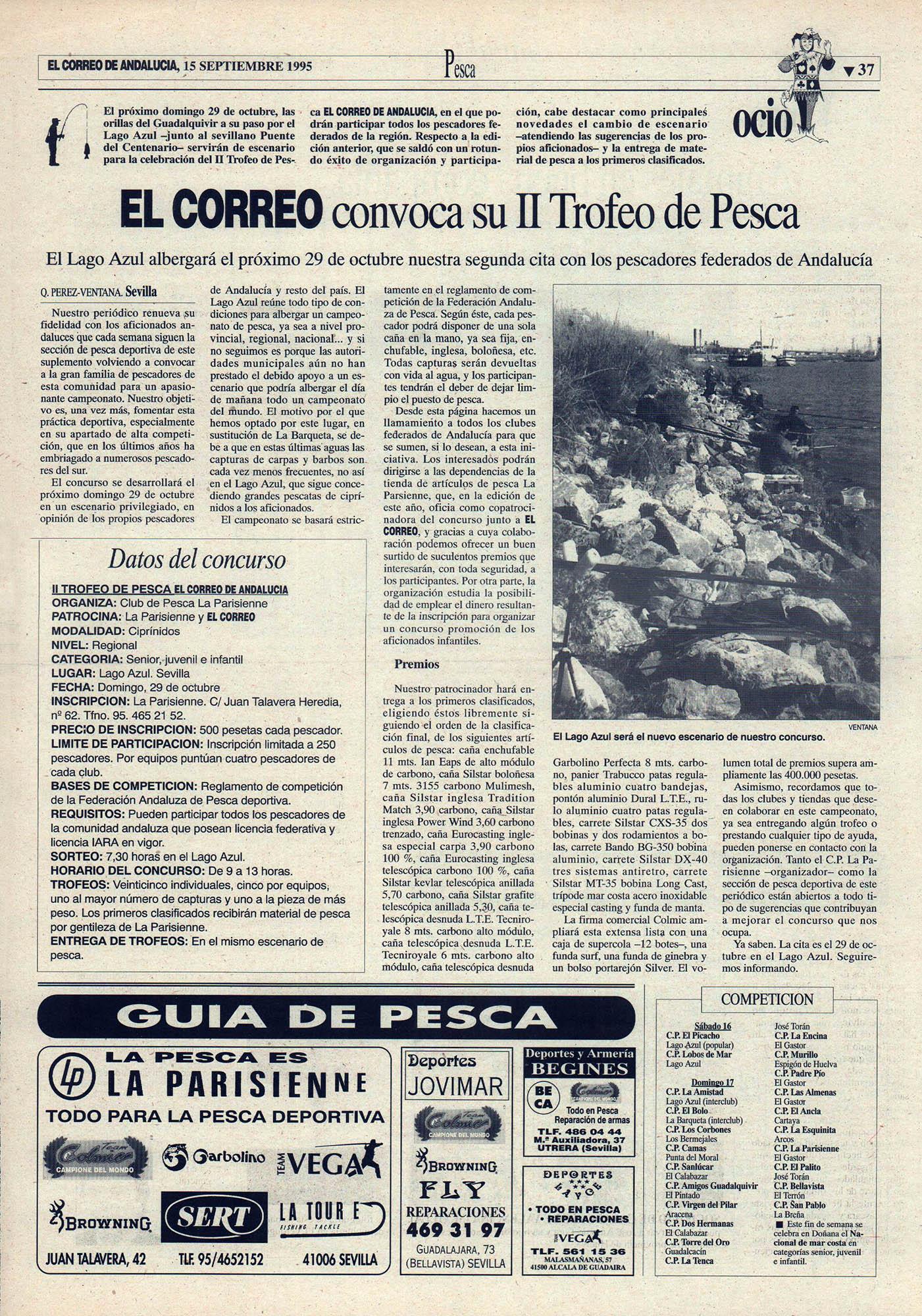 Pesca deportiva / El Correo convoca su II Trofeo de Pesca | El Correo de Andalucía | 15 sep 1995