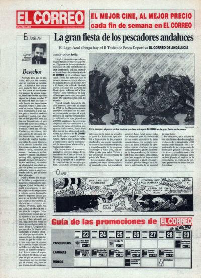 Pesca deportiva / La gran fiesta de los pescadores andaluces – II Trofeo El Correo | El Correo de Andalucía | 29 oct 1995