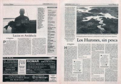 Pesca deportiva / Embalse de Los Hurones, sin pesca – Lucios en Andalucía   El Correo de Andalucía   13 feb 1998