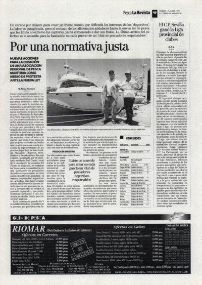 Pesca deportiva / Por una normativa justa | El Correo de Andalucía | 25 jun 1999
