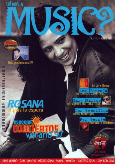 Rosana, el país la espera | What's Music? | jul 1997