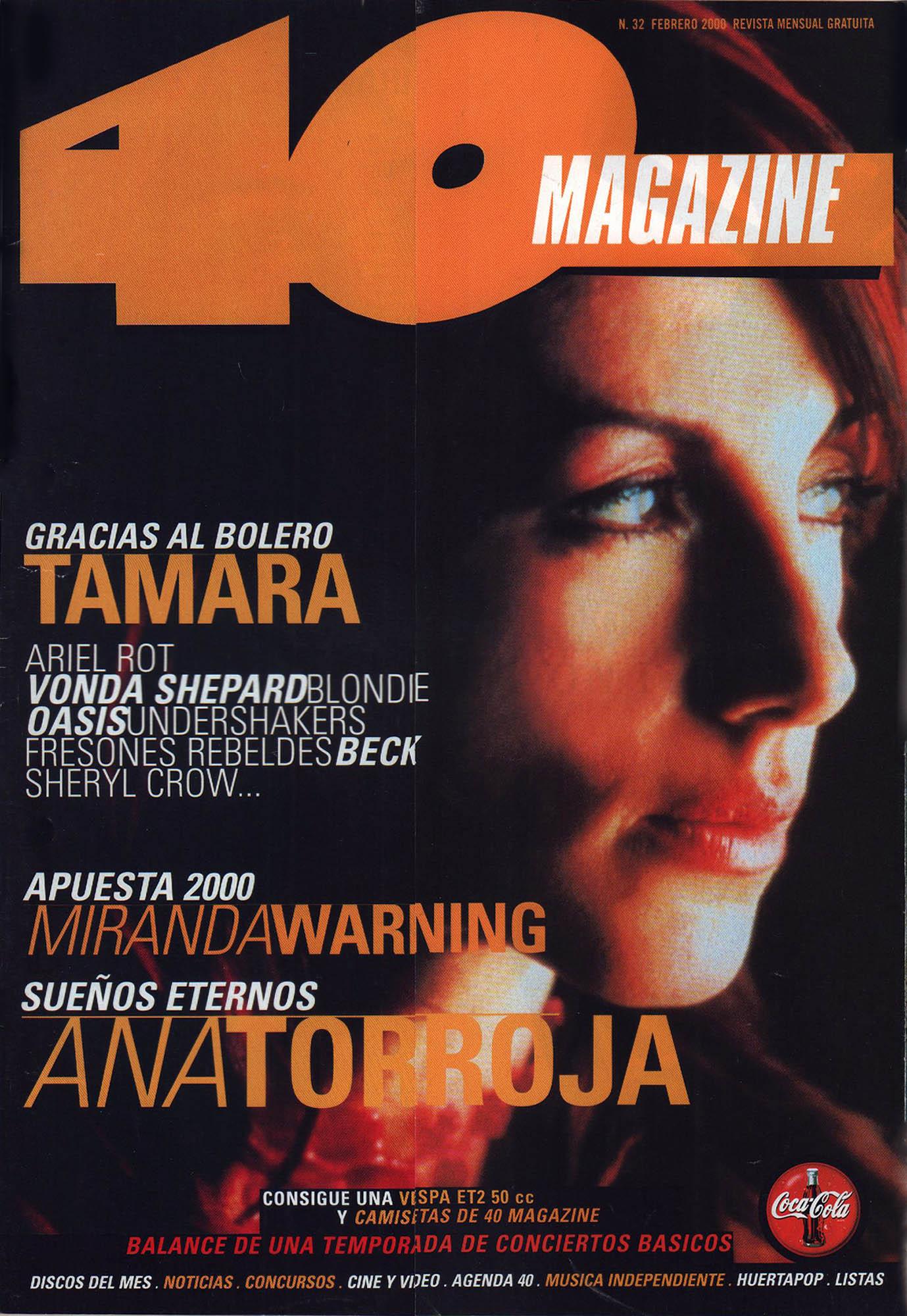 Ana Torroja | 40 Magazine | feb 2000