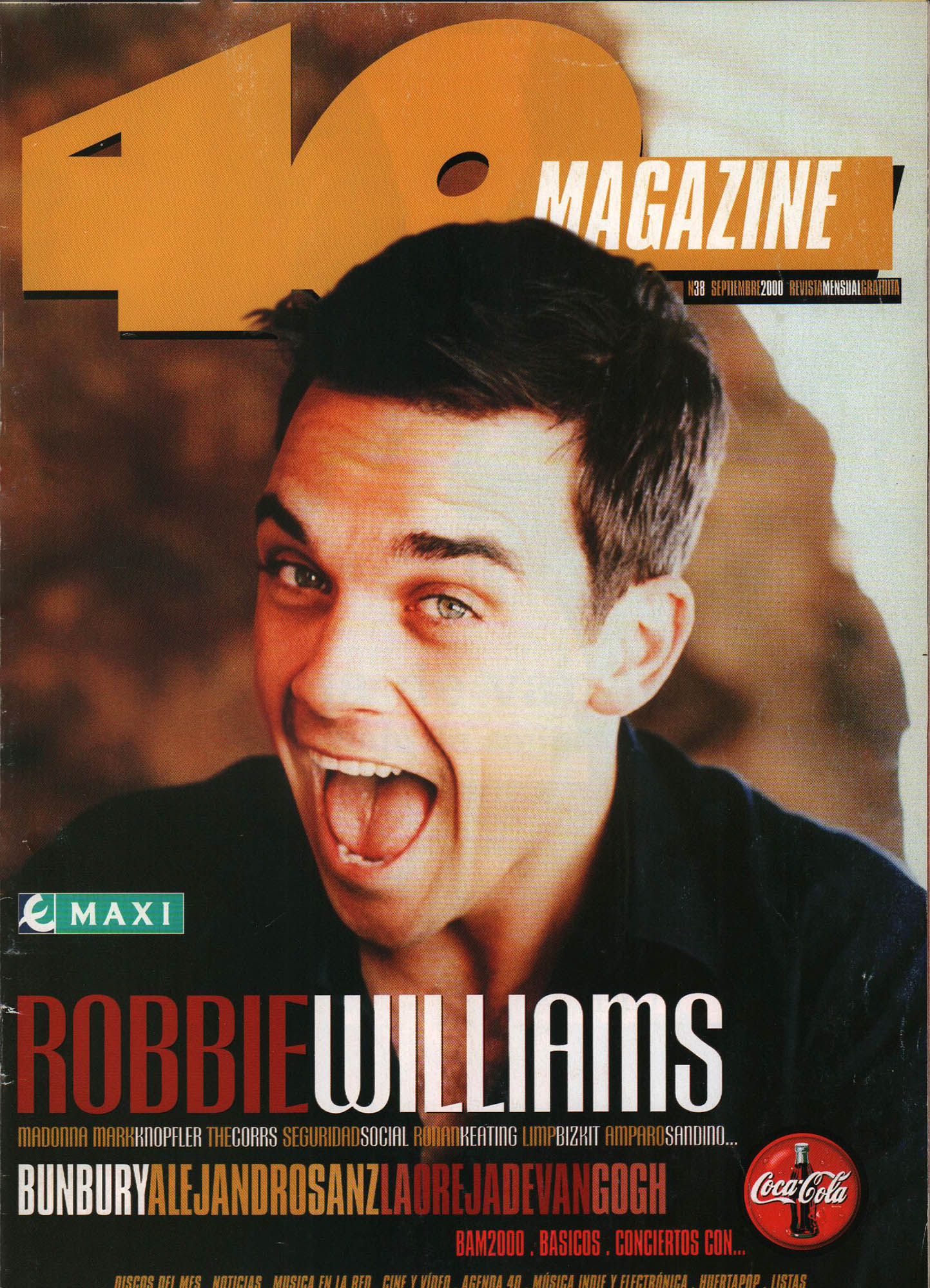 Robbie Williams | 40 Magazine | sep 2000