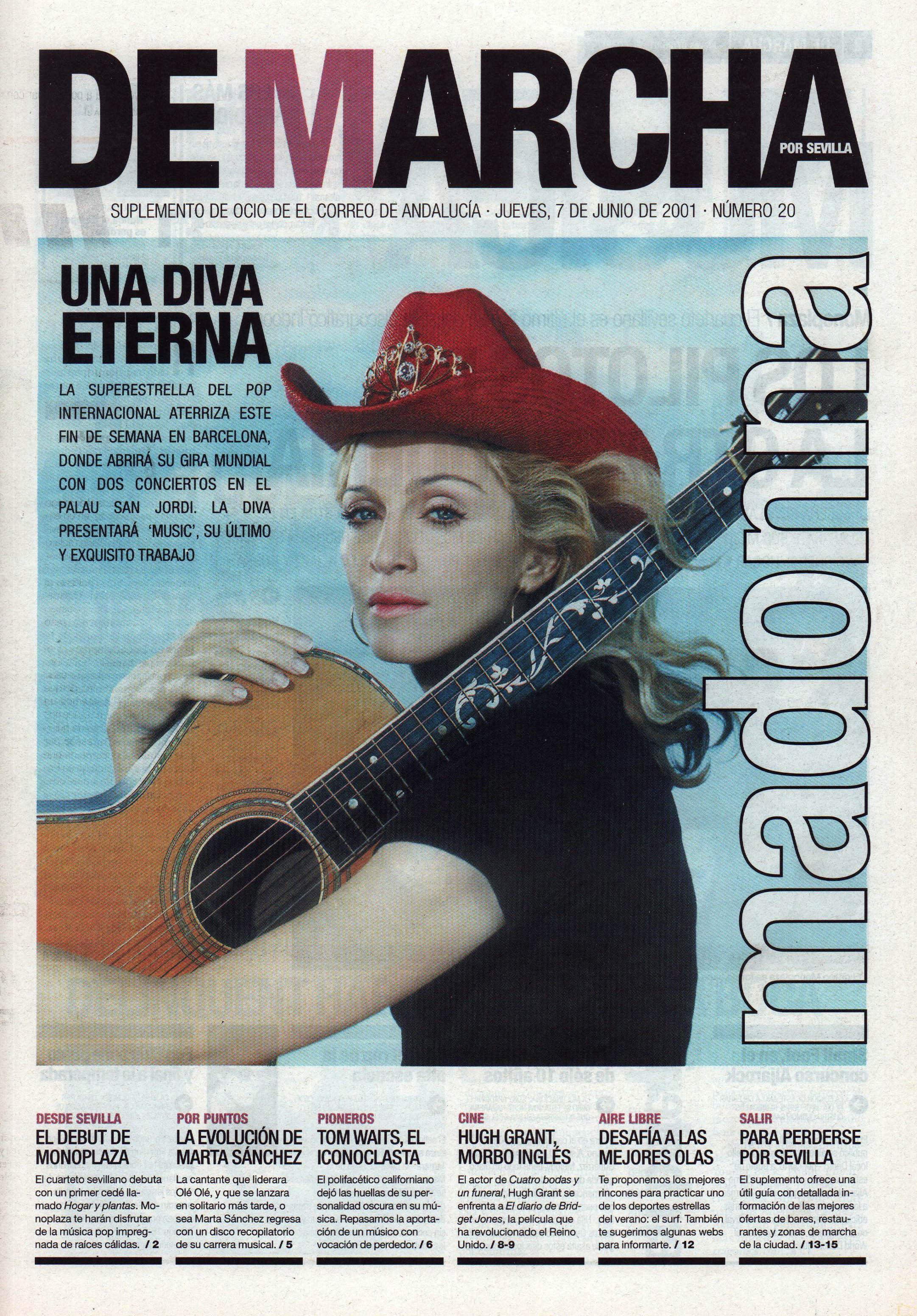 Madonna, una diva eterna   De Marcha - El Correo   7 jun 2001