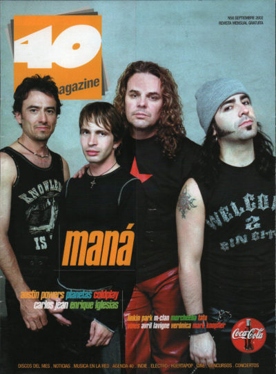 Maná | 40 Magazine | sep 2002