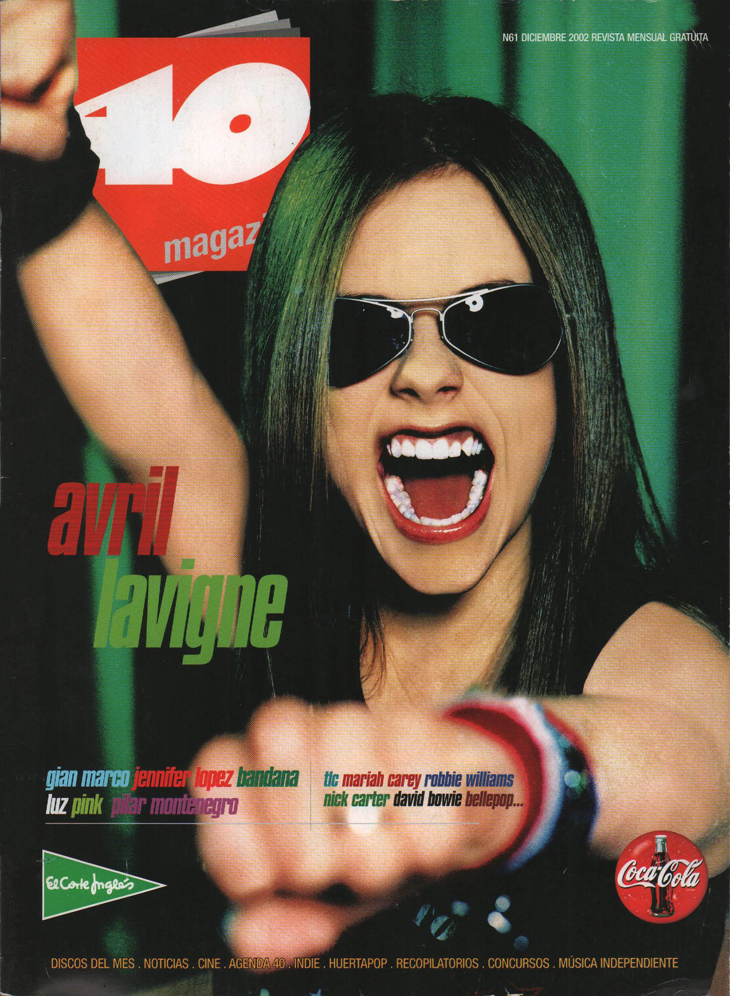 Avril Lavigne | 40 Magazine | dic 2002