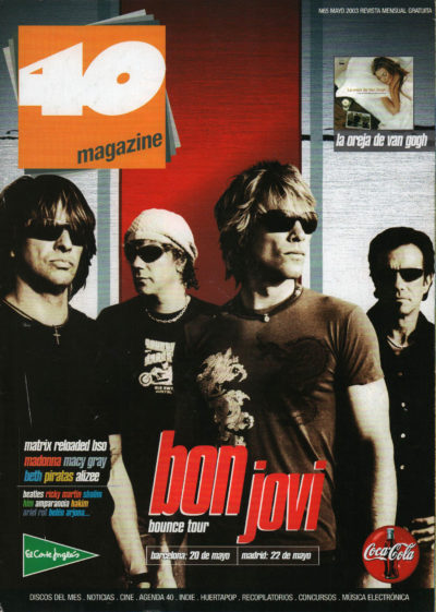 Bon Jovi – Bounce Tour | 40 Magazine | may 2003