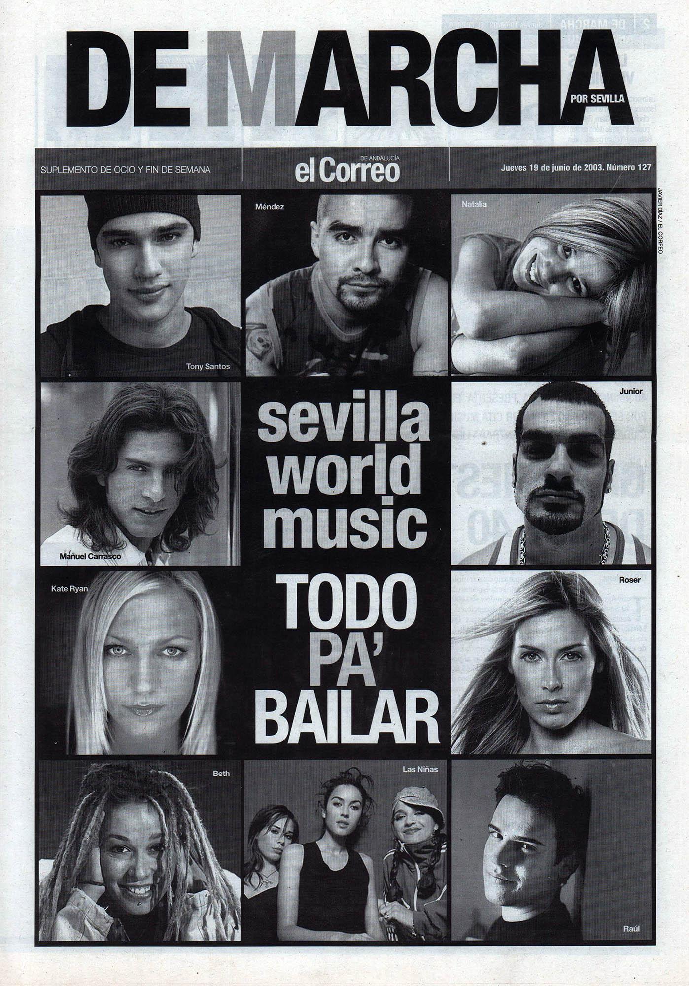 Sevilla World Music - Todo pa' bailar | De Marcha - El Correo | 19 jun 2003