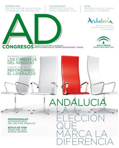 Andalucía, la elección que marca la diferencia | Andalucía Destino Congresos | Consejería de Turismo | oct 2007