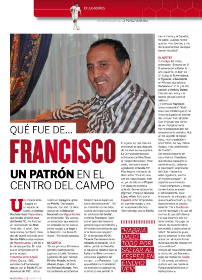 Qué fue de… Francisco López Alfaro | Football Club | mar 2010