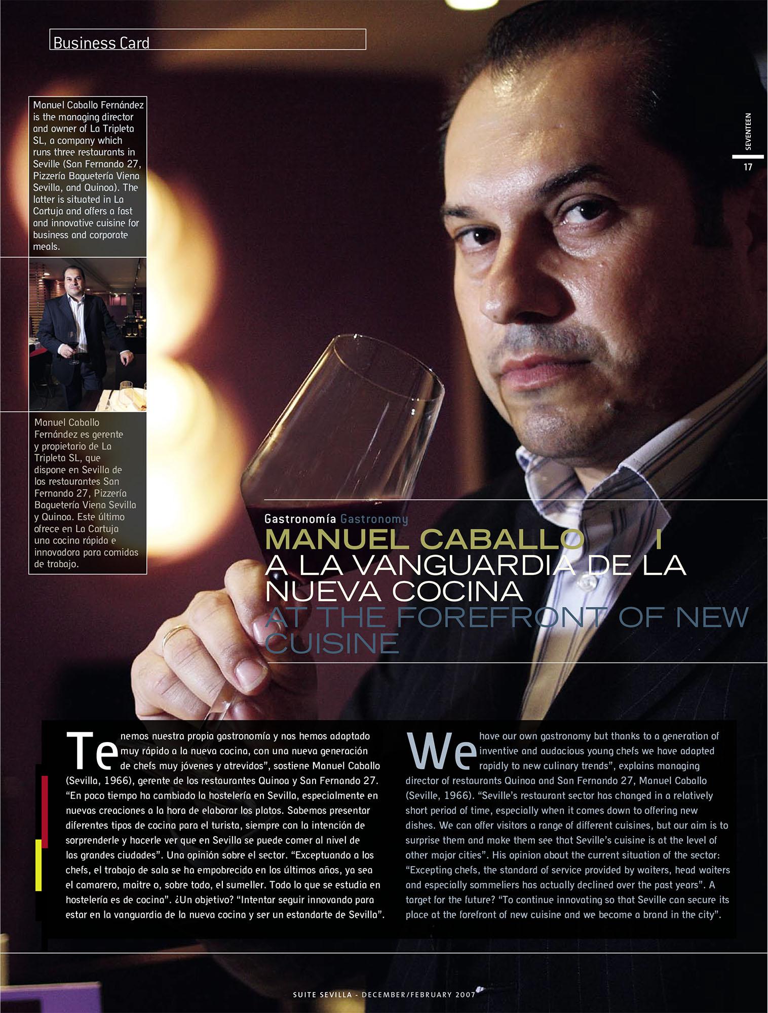 Manuel Caballo - Restaurante San Fernando 27 | Suite Sevilla | dic 2006